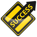 Success sign. Success upward arrow sign on white Stock Images