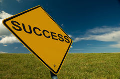 A Success Sign. An Inspirational Image, for business and teambuilding Royalty Free Stock Photos