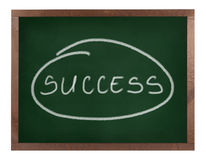 Success sign on blackboard isolated Stock Photo