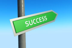 Success Sign. With blue sky background Royalty Free Stock Photos