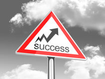 The success sign Stock Photo