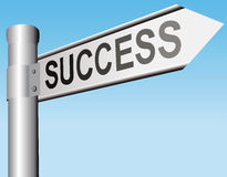Success sign, direction, arrow Royalty Free Stock Images