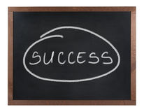 Success sign isolated on white Royalty Free Stock Photo