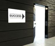 Success sign, office open door Royalty Free Stock Images