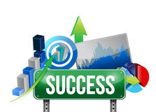 Success sign and set concept illustration design Stock Images