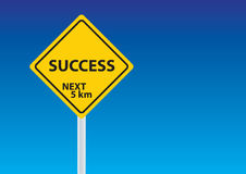 Success sign under blue sky Royalty Free Stock Image
