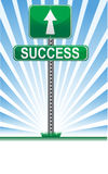 Success sign / Vector. Conceptual picture of life's paths. Vector File available Royalty Free Stock Photos