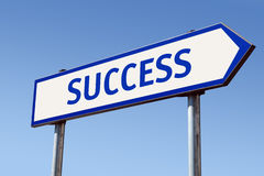 Success signpost Royalty Free Stock Images