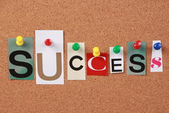 Success Single Word Stock Photo