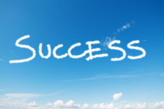 Success in the sky Stock Photo