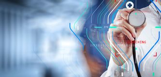 success smart medical doctor working with operating room as concept royalty free stock image
