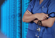 Success smart medical doctor working. With operating room as concept Stock Images