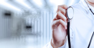 Success smart medical doctor working with operating room. As concept Stock Images