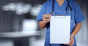Success smart medical doctor working. With operating room as concept Stock Photo