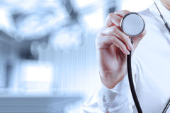 Success smart medical doctor working. With operating room as concept Stock Image