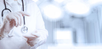 Success smart medical doctor working. With operating room as concept Royalty Free Stock Image