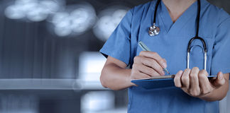 Success smart medical doctor working. With operating room as concept Royalty Free Stock Photo