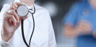 Success smart medical doctor working. With operating room as concept Royalty Free Stock Photos