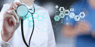 Success smart medical doctor working. With operating room as concept Stock Photos