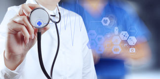Success smart medical doctor working Stock Photos