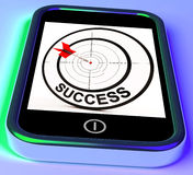 Success On Smartphone Showing Aimed Improvement Stock Photography