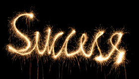 Success sparkler Stock Photo