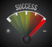 Success speedometer to the max illustration Royalty Free Stock Photography