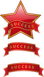 Success star ribbon Stock Photo