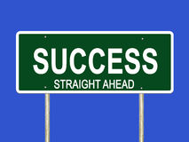 Success staright ahead road sign Royalty Free Stock Photography