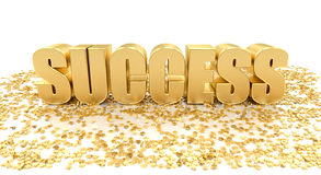 Success with stars on white background High quality 3D Render Stock Images