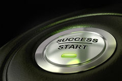 Success start button successful concept Stock Images