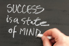 Success is a state of mind Stock Photos