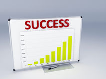 Success statistic graph Royalty Free Stock Photo