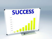 Success statistic graph Royalty Free Stock Photos