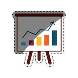 Success statistics bars Royalty Free Stock Photos