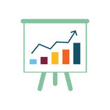 Success statistics bars Stock Photos