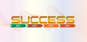 Success step illustration, with step by step arrow.  easy to modify Stock Photos