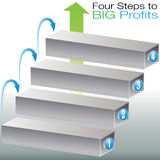 Success Steps. An image of a 3d success steps chart Stock Photo