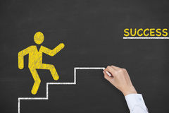 Success Steps Concept Drawing on Blackboard Royalty Free Stock Images