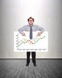 Success stock chart Stock Image