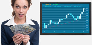Success on the stock exchange Stock Photo