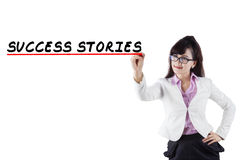 Success stories of businesswoman Stock Photography