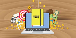 Success stories story plan goals achievement business Royalty Free Stock Photography