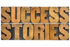 Success stories typography Royalty Free Stock Photography