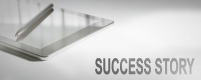 SUCCESS STORY Business Concept Digital Technology. Graphic Concept. Business Concept royalty free stock photography