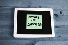Success story concept written on blackboard Royalty Free Stock Photos