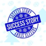 Success Story Grunge Round Stamp Seal for Christmas royalty free illustration