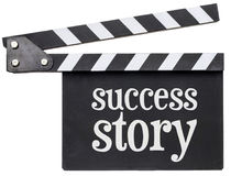 Success story text on clapboard Royalty Free Stock Images