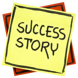 Success story text on sticky note Royalty Free Stock Image
