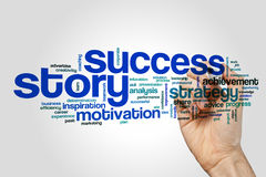 Success story word cloud Royalty Free Stock Photography